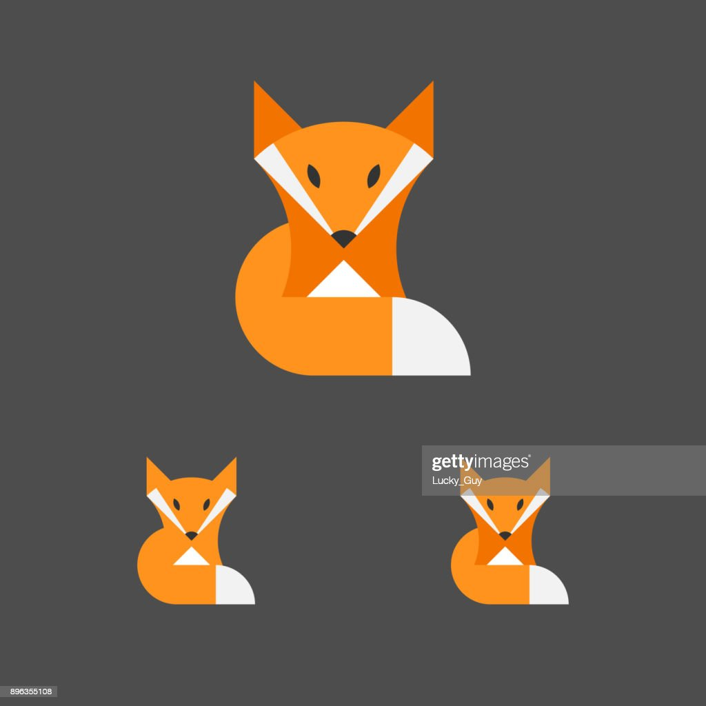 Fox Template. Logotype Set. Animal Emblem. Vector.