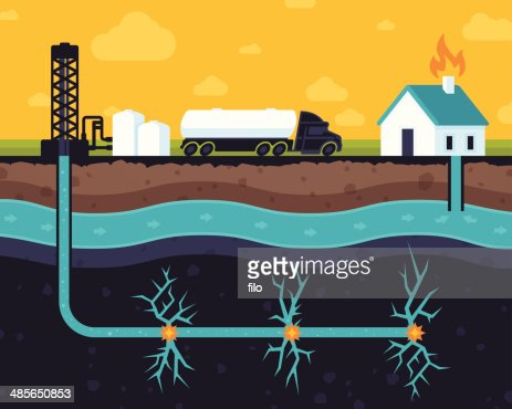 Fracking Diagram Vector Art Getty Images