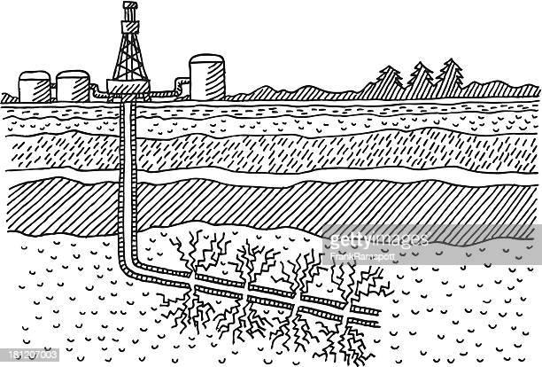 Fracking Drilling Programm Zeichnung