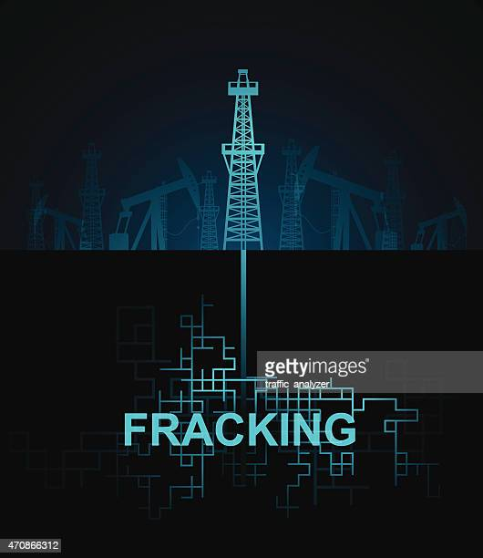 fracking - oil pump stock illustrations, clip art, cartoons, & icons