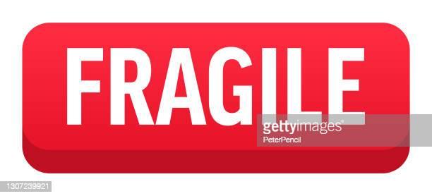 fragile - button, banner, label template. vector stock illustration - fragile sticker stock illustrations