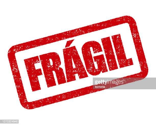 fragile portuguese rubber stamp - fragile sign stock illustrations