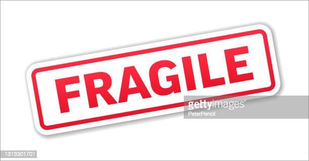 fragile - stamp, banner, label, button template. vector stock illustration - fragile sticker stock illustrations