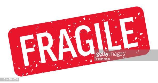 fragile - stamp, imprint, seal template. vector stock illustration - fragile sticker stock illustrations