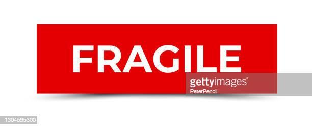 fragile - sticker, banner, label, ribbon template. vector stock illustration - fragile sticker stock illustrations