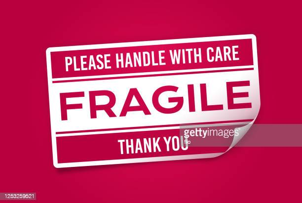 fragile sticker - fragile sign stock illustrations