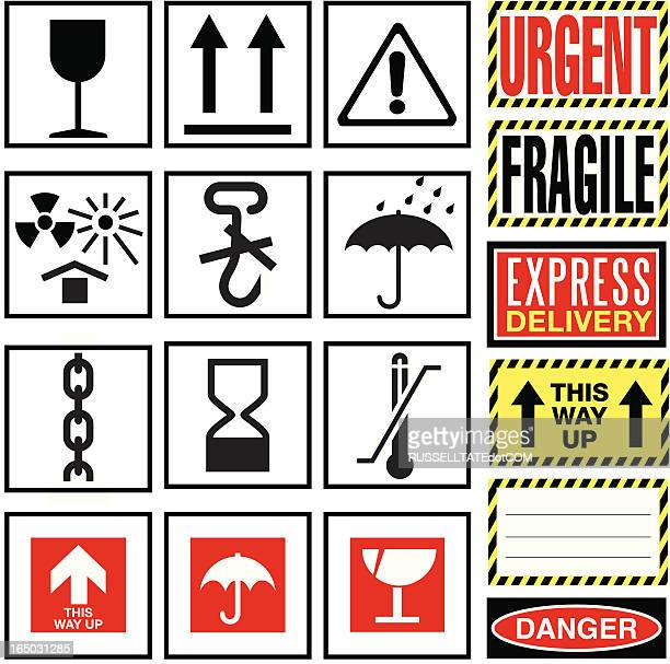 fragile! - packaging stock illustrations, clip art, cartoons, & icons