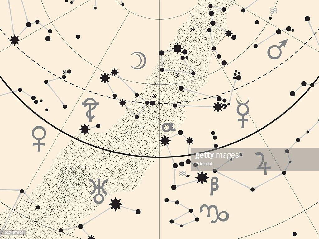 Fragment of Astronomical Celestial Atlas