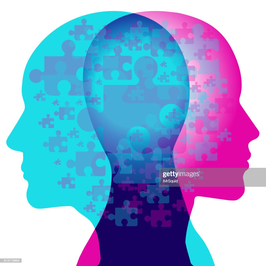 Fragmented Thoughts : Stock Illustration