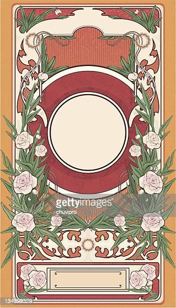 フレームアールデコピオニー - 象徴主義点のイラスト素材/クリップアート素材/マンガ素材/アイコン素材