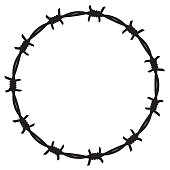 Frame barbed wire