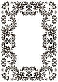 Frame border design template. Black and white decorative vector border