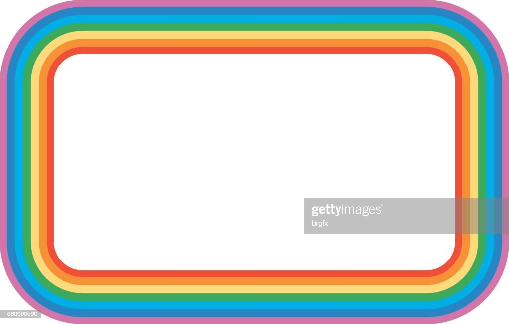 Frame Design With Rainbow Vector Art | Getty Images