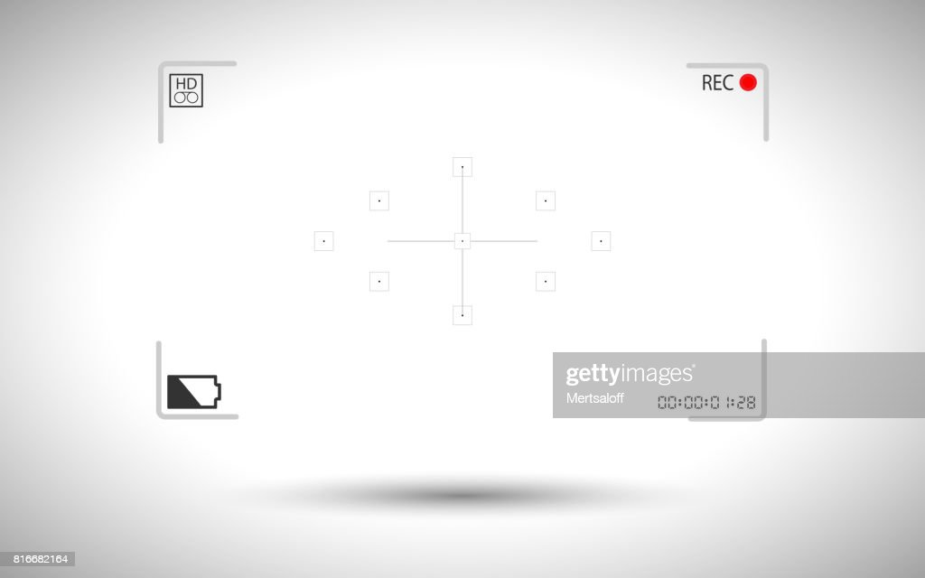 Frame digital video camera focusing screen isolated on background