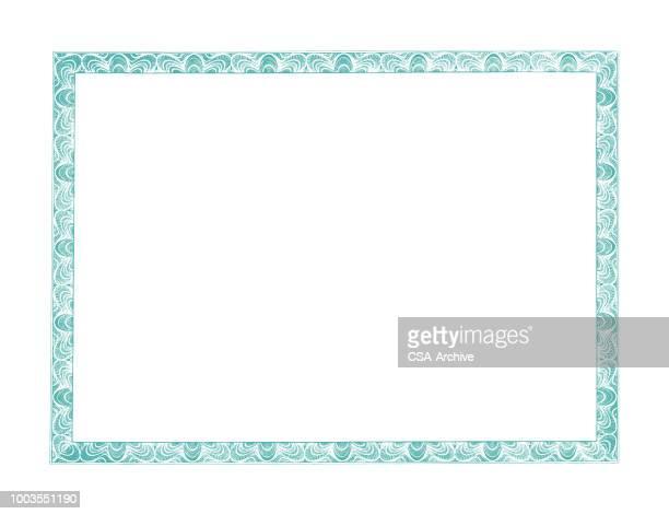 frame enclosure - certificate stock illustrations