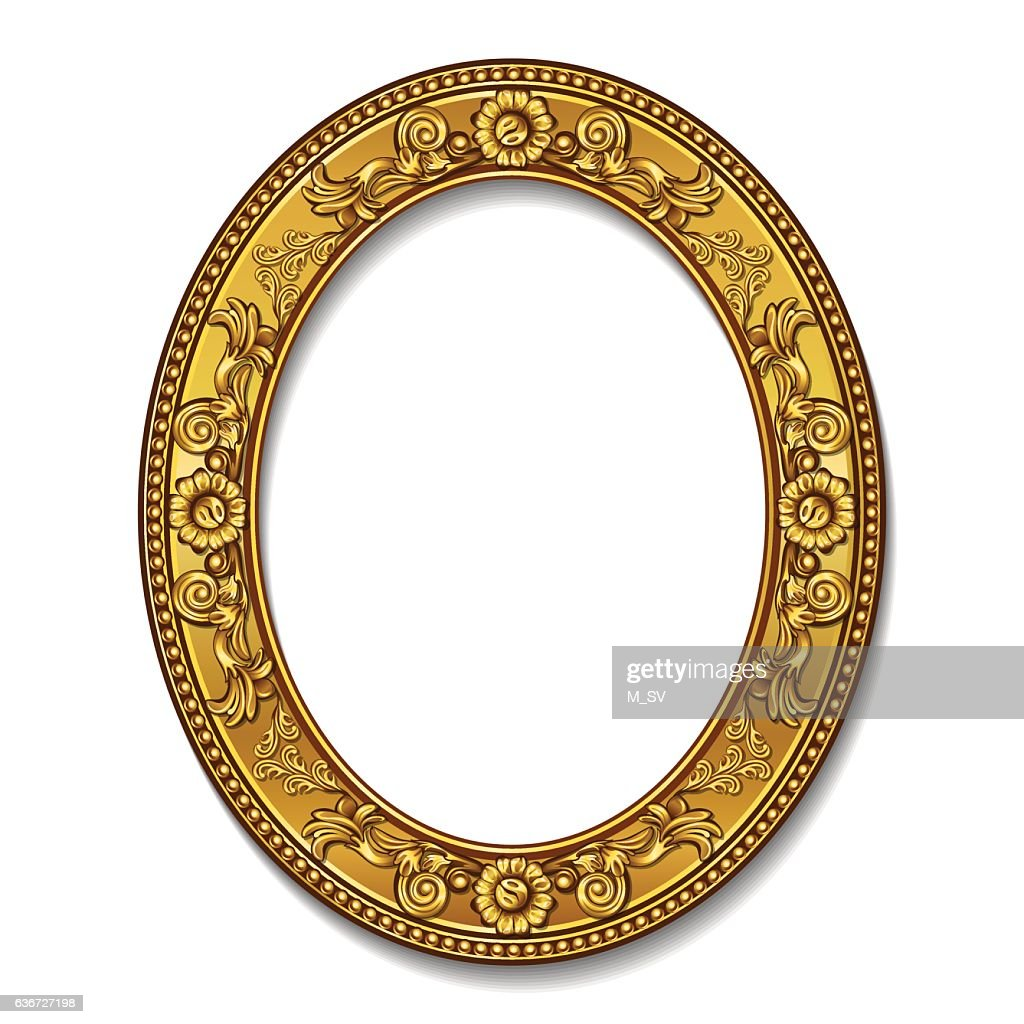 frame gold color with shadow