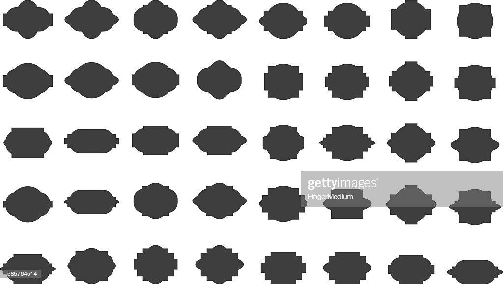 Frame icon set : Ilustración de stock