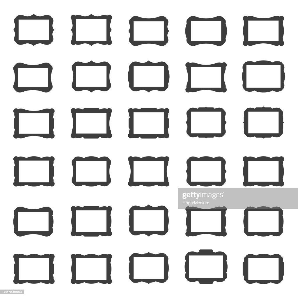 フレームのアイコンを設定 : ストックイラストレーション