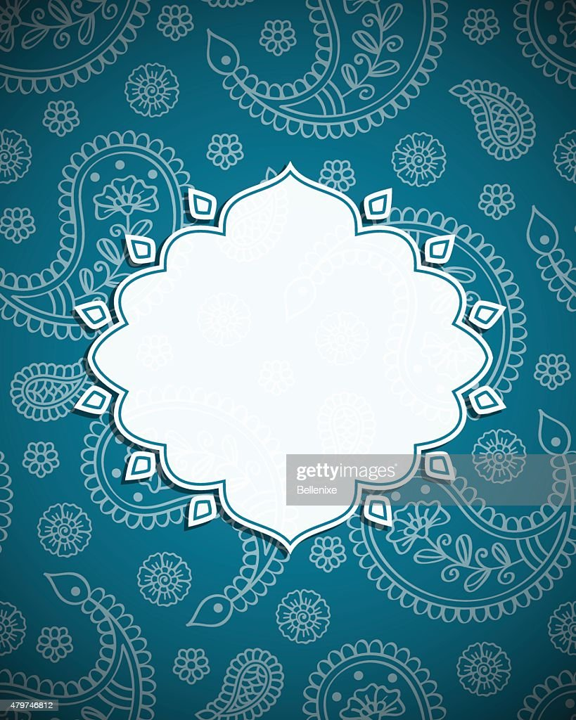 Frame in the Indian style