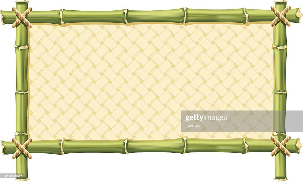Frame made out of bamboo with yellow interior