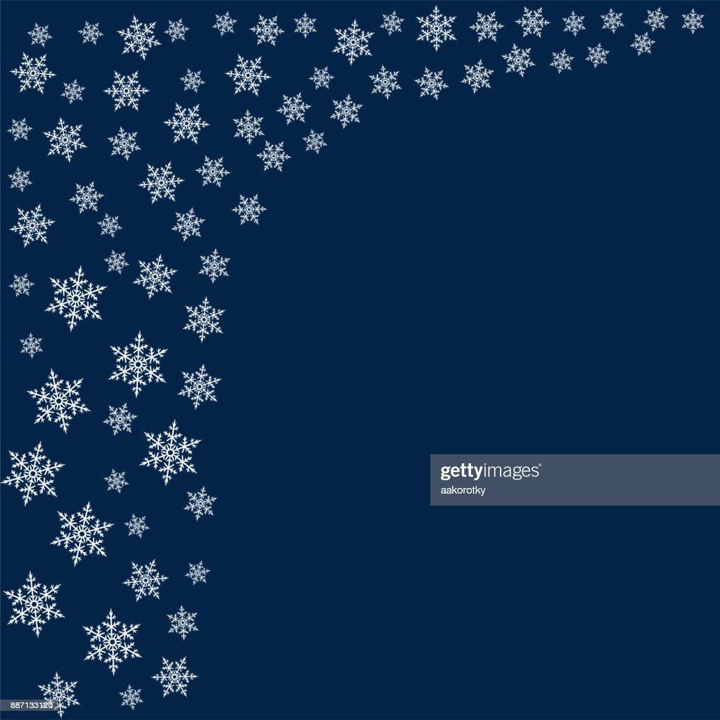 Rahmen Von Schneeflocken Weihnachten Hintergrund Einladung Für Das ...