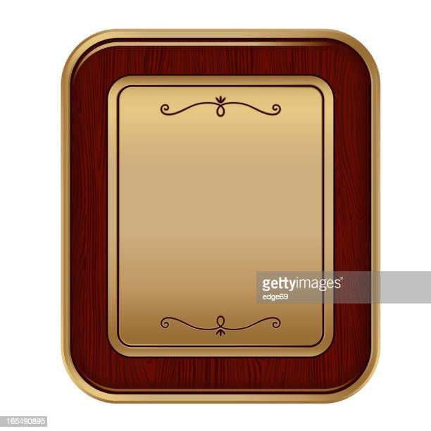 frame plaque - award plaque stock illustrations, clip art, cartoons, & icons