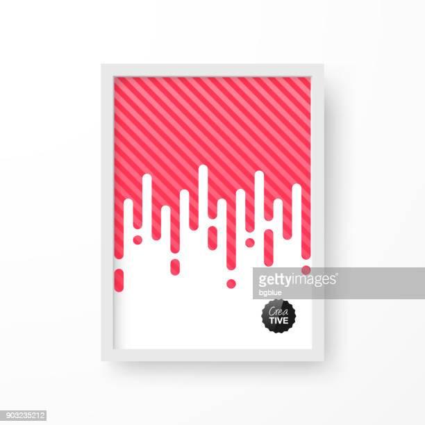 Rahmen mit abstrakten roten Hintergrund, isoliert auf weißem Hintergrund