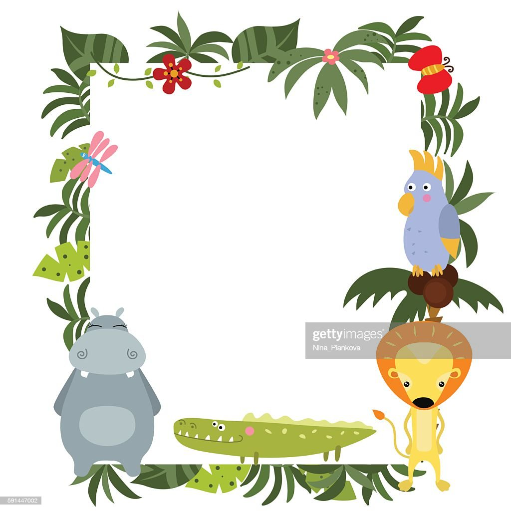 Frame with African animals