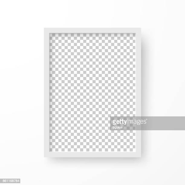 frame with blank background, isolated on white background - white stock illustrations