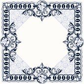 Frame with chain links and diamonds