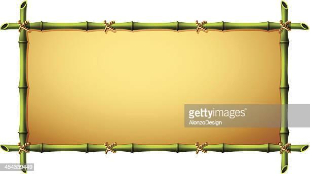 竹のフレーム - 竹点のイラスト素材/クリップアート素材/マンガ素材/アイコン素材