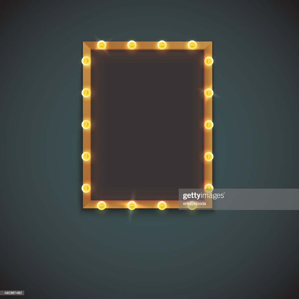 Frame with electric bulbs
