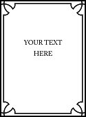 Frame with script your text here