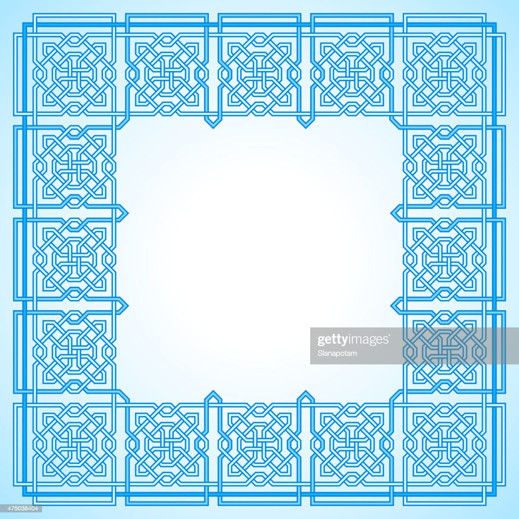 Frame with Tangled Modern Pattern