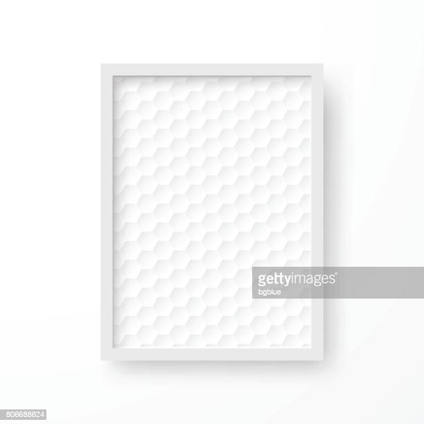Frame with white abstract background, isolated on white background