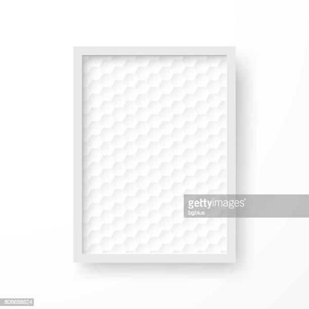 ilustrações, clipart, desenhos animados e ícones de quadro com fundo branco abstrato, isolado no fundo branco - moldura de quadro equipamento de arte e artesanato