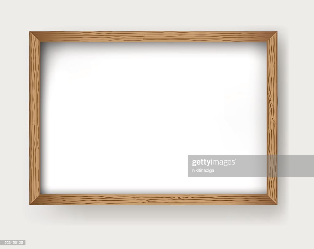 Frame wood vector