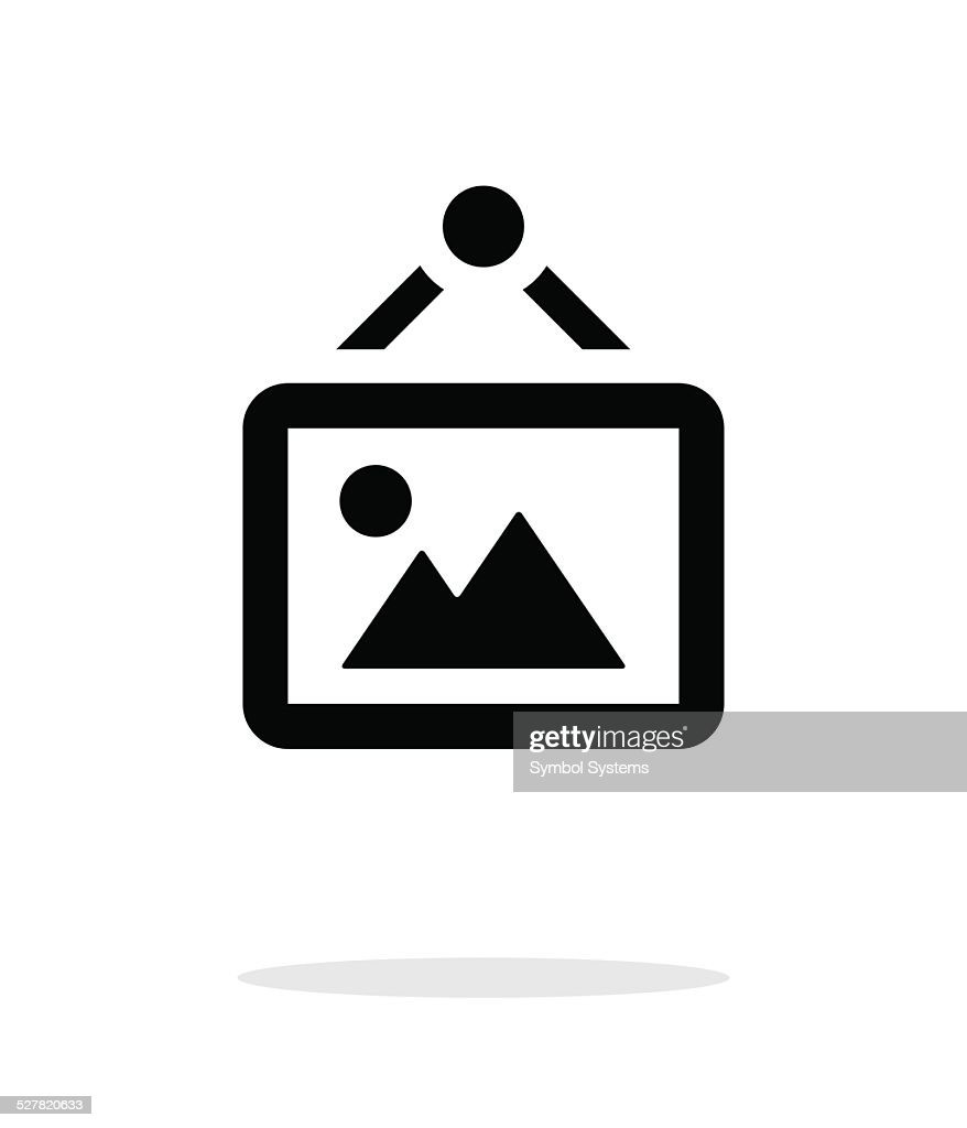 Framed picture icon on white background.