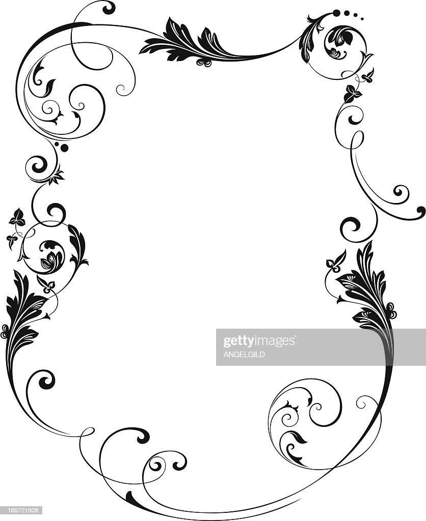 framed scroll border vector art getty images