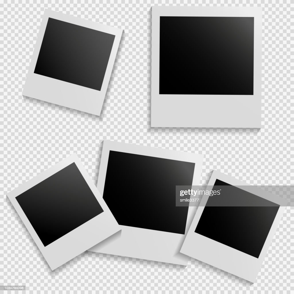 Frames for photo on isolated background