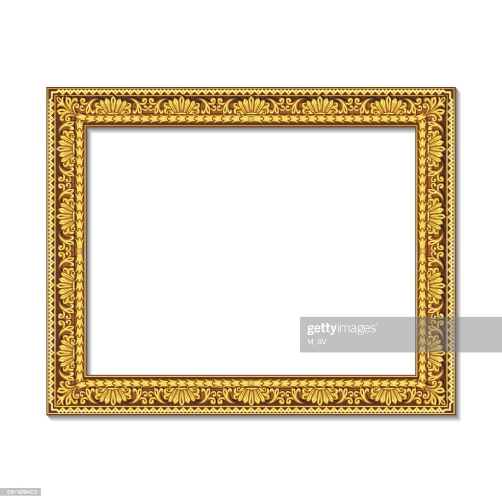frames gold color with shadow