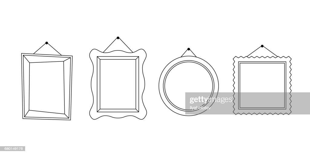 Frames line icons