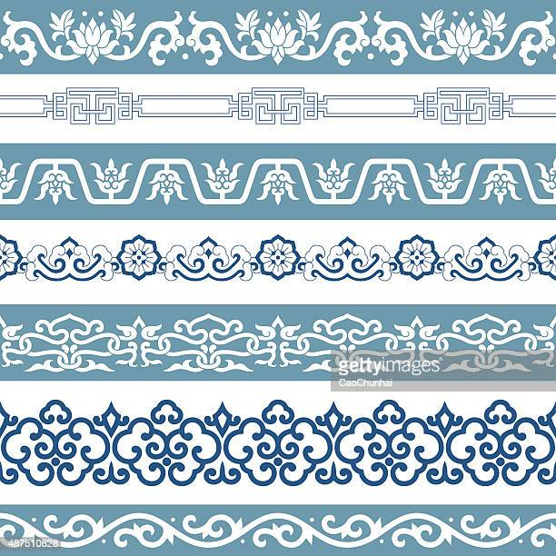 frames of chinese style - chinese decoration stock illustrations