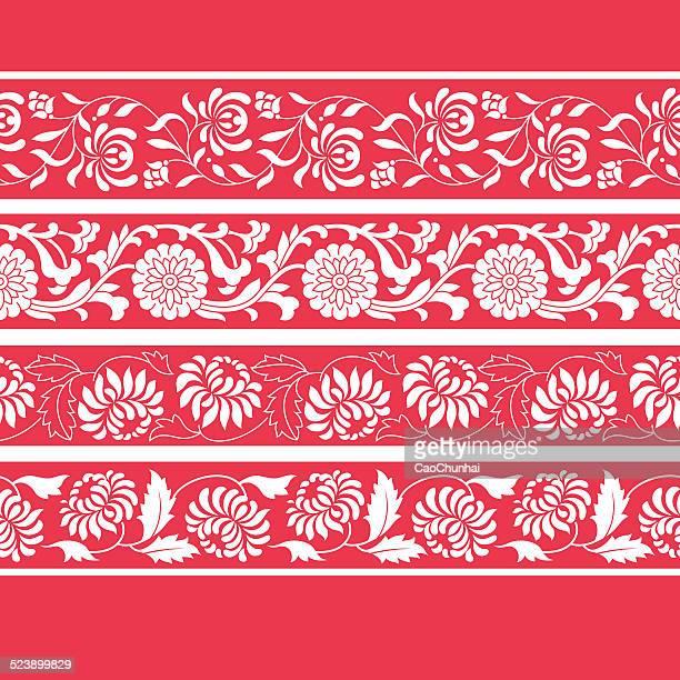 中国のフレームスタイル(菊) - キク科点のイラスト素材/クリップアート素材/マンガ素材/アイコン素材