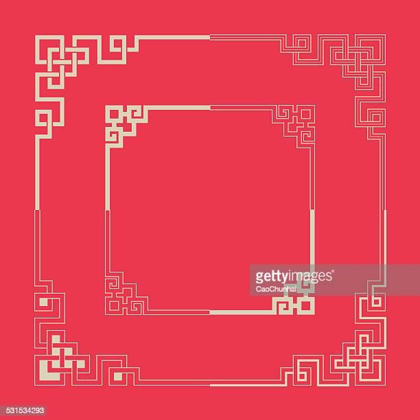 フレームの中華料理スタイル - 中国点のイラスト素材/クリップアート素材/マンガ素材/アイコン素材