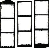 frames of medium format film