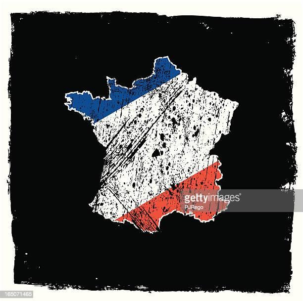フランス抽象的なグランジのシリーズ - 黒枠点のイラスト素材/クリップアート素材/マンガ素材/アイコン素材