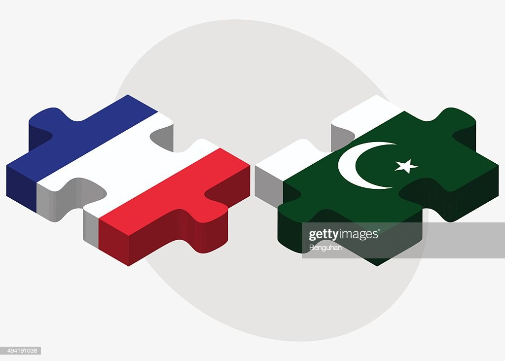 France and Pakistan Flags