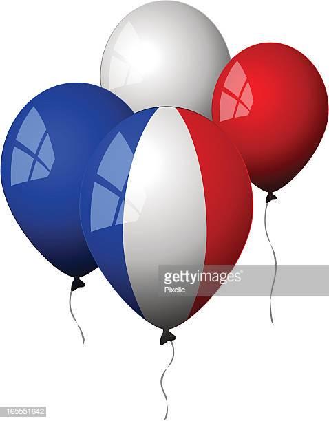 illustrations, cliparts, dessins animés et icônes de france-montgolfières - drapeau français