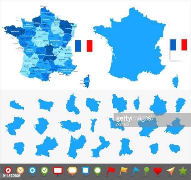 29 - france - blue and pieces 10 - nice france stock illustrations, clip art, cartoons, & icons